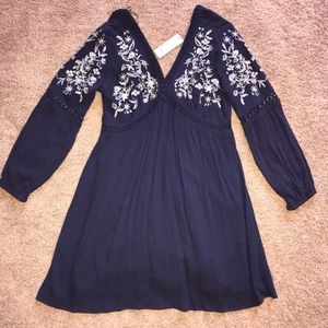 Navy blue long sleeve dress from Francesca's